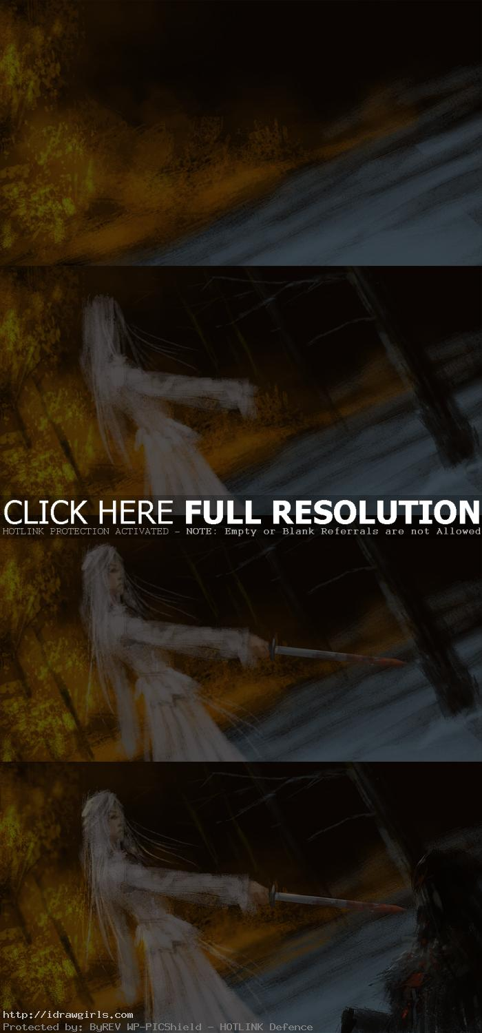 assassin in white dress painting tutorial