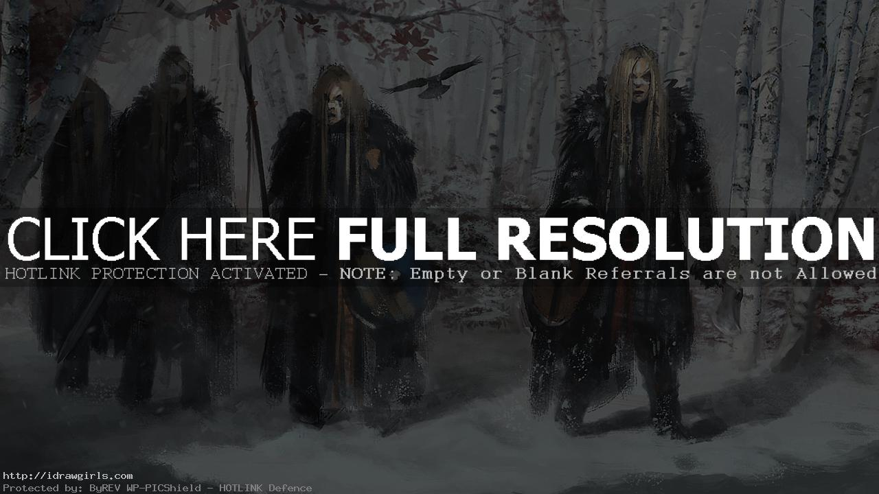 shield maiden Digital painting tutorial shield maidens concept art