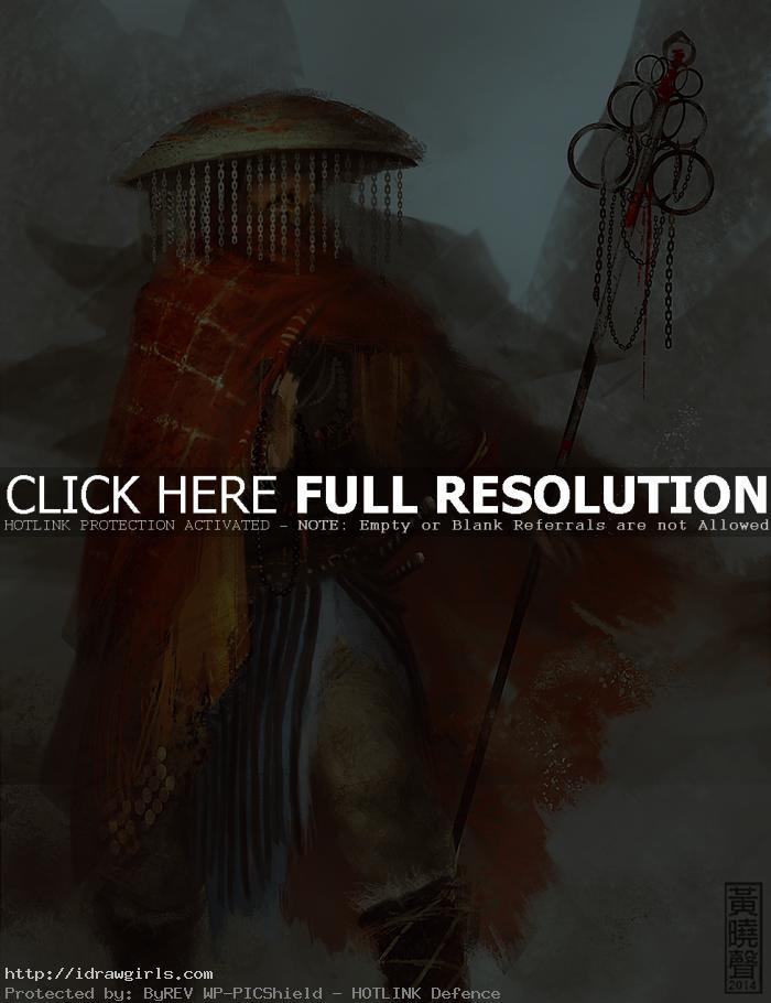 Draw character concept design tutorial warrior monk