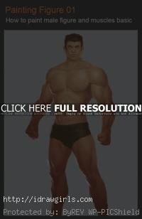 painting male figure and muscles video tutorial