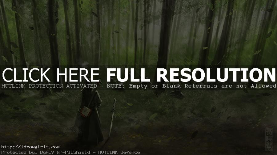 Samurai with strings concept art speedpainting