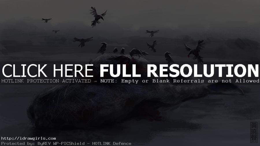 Raven feast speedpainting