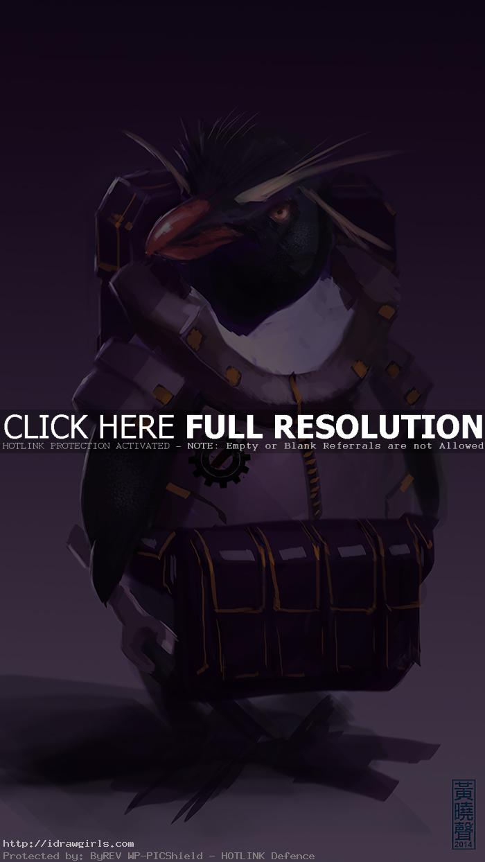 badass penguin mechanic speedpainting