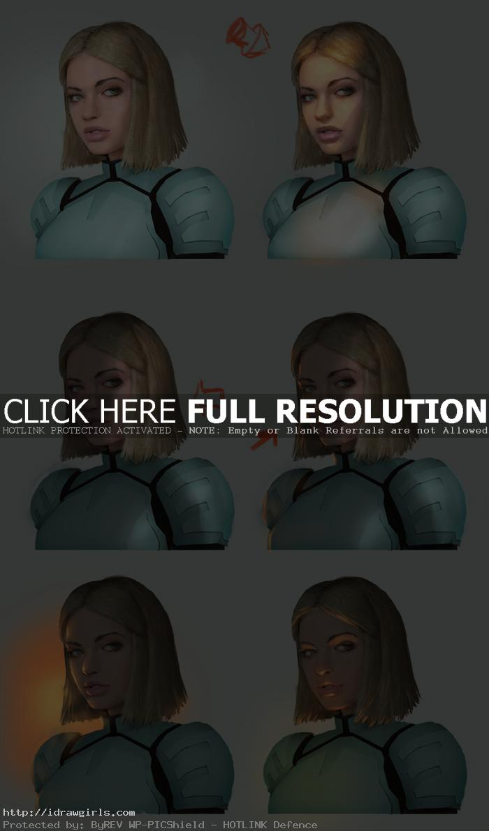 different lighting on portrait painting tutorial