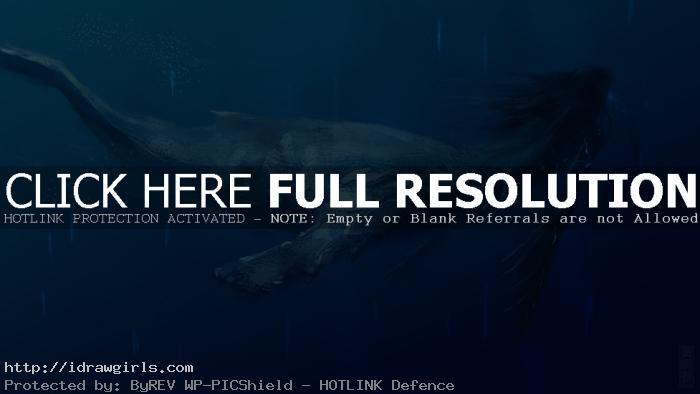 Deep sea mermaid concept art tutorial