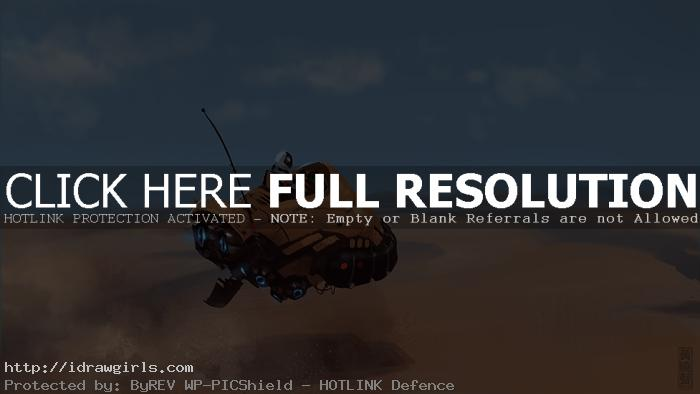 desert hovercraft speed painting