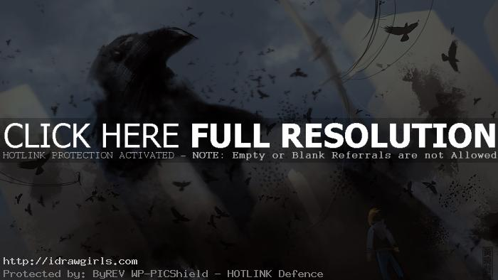 giant crow speed painting