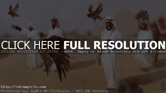 falconers digital painting