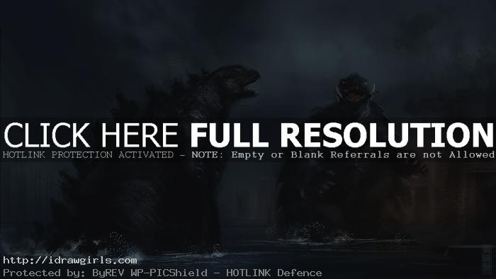 Godzilla vs Gamera speed painting tutorial
