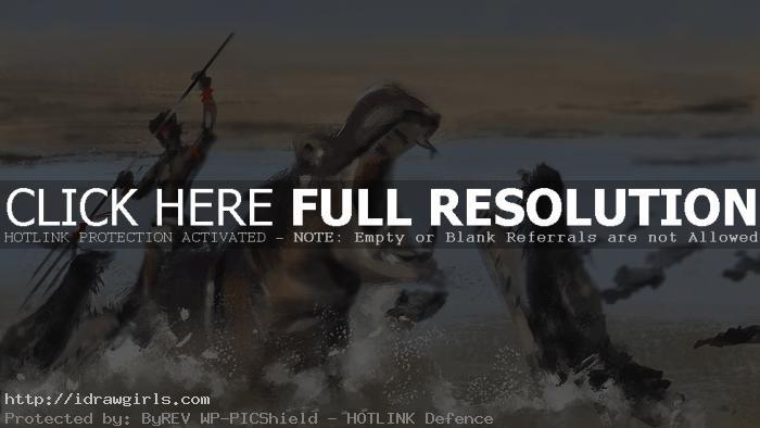 Hippo rider speedpainting