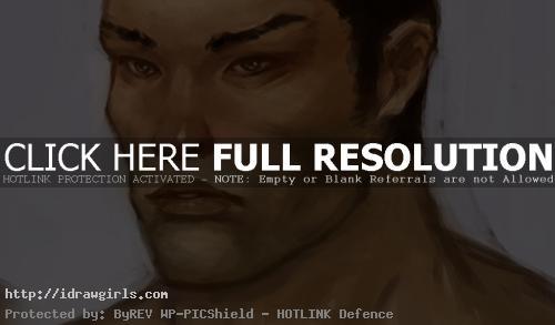 drawing Asian hero guy