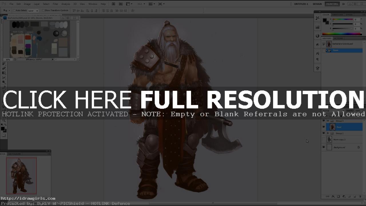Character Design Tutorial Barbarian concept art by xia taptara