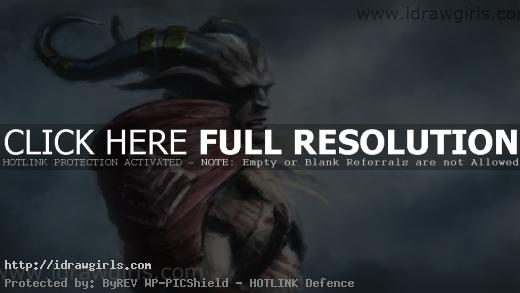 Dragon Age 2 digital painting Qunari