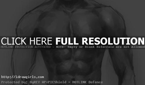How to draw male upper body
