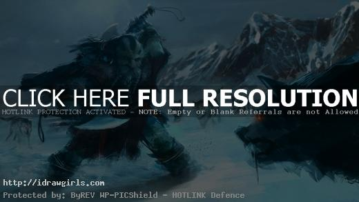 dwarf vs wolves concept art