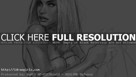 drawing Emma Frost X-men