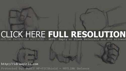 how to draw fists