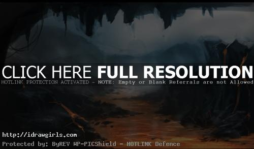 magma river environmental concept