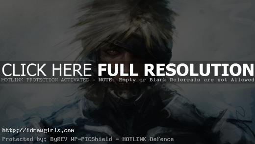 Metal gear solid raiden drawing