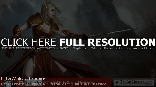 Blood elf character concept art tutorial