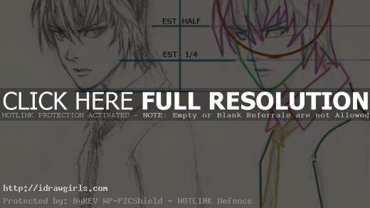 Drawing Manga light death note tutorial