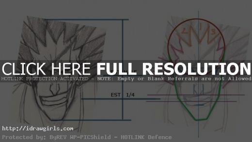 Kenpachi Manga drawing instruction
