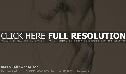 draw arm muscles side view