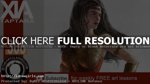 how to color Wonder Woman