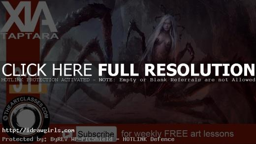spider queen concept art video tutorial