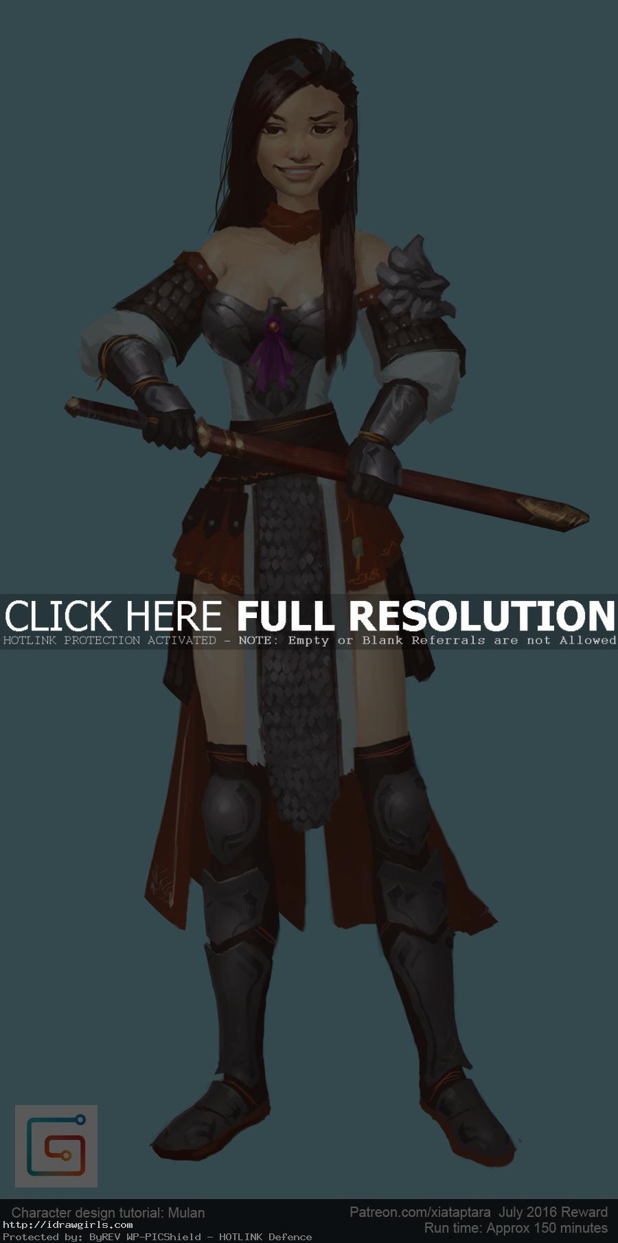 Character Design Tutorial Lynda : Character design tutorial mulan drawing and digital
