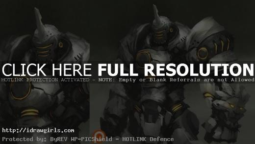 Reinhardt digital painting process