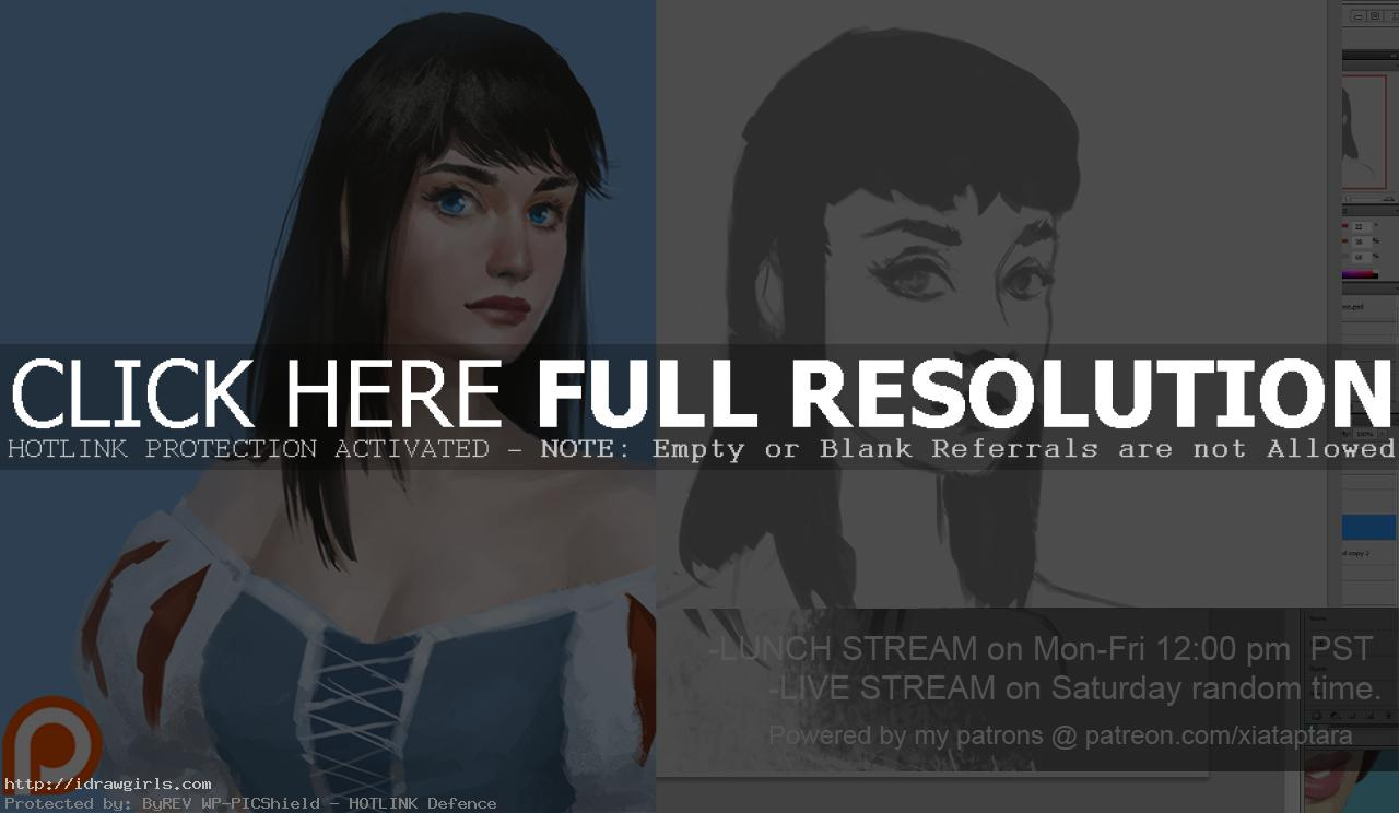 Snow white portrait digital painting tutorial