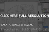 Drawing Overwatch character Dva VS Genji action pose