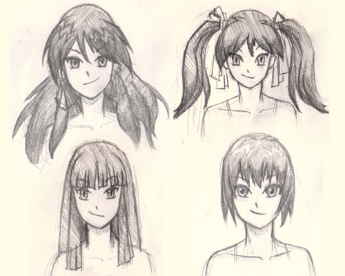 how to draw hair manga How to draw Manga hair 4 different ways