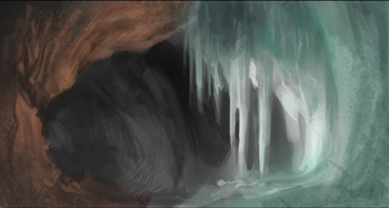 sketch, cave, speedpainting, environmental, painting, photoshop, art, concept, crystal, drawing, how to, tutorial