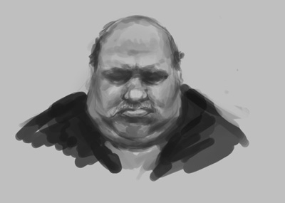 concept, drawing, sketch, how to, tutorial, face, fat, man, old, fantasy, comics, manga