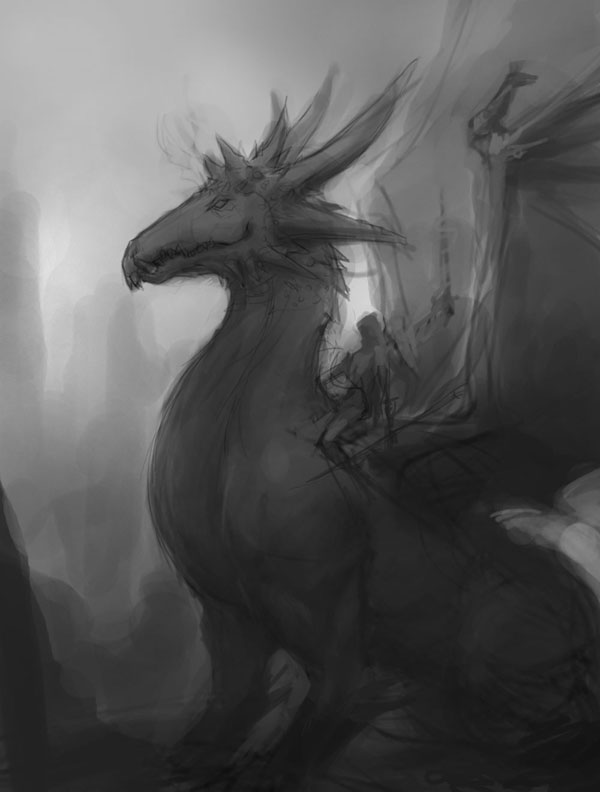 dragon, fire, knight, art, concept, design, drawing, how to, illustration, manga, sketch, tutorial