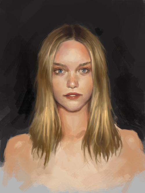 how to paint portrait