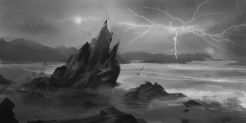 environment, concept, art, landscape, beach, black, crytal