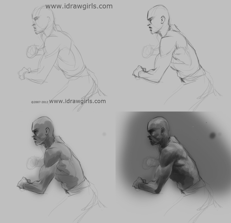 draw arm muscles step by step