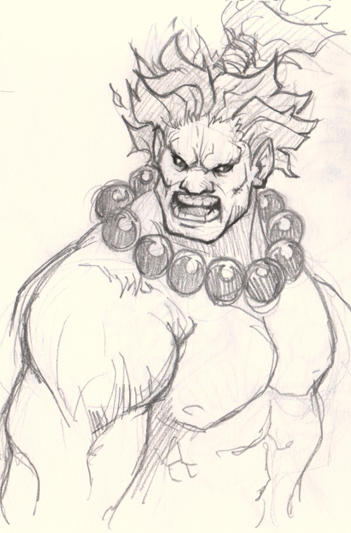 draw street figther akuma How to draw Akuma Street Fighter