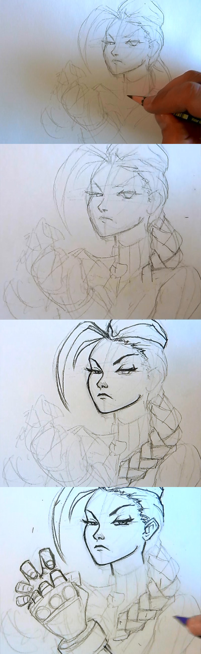 how to draw cammy street fighter 02 How to draw Cammy Street Fighter