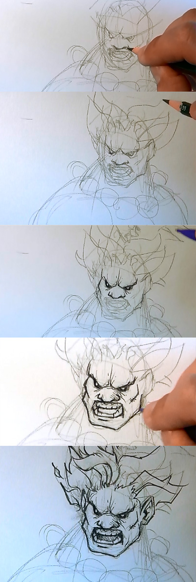 how to draw street fighter akuma 02 How to draw Akuma Street Fighter