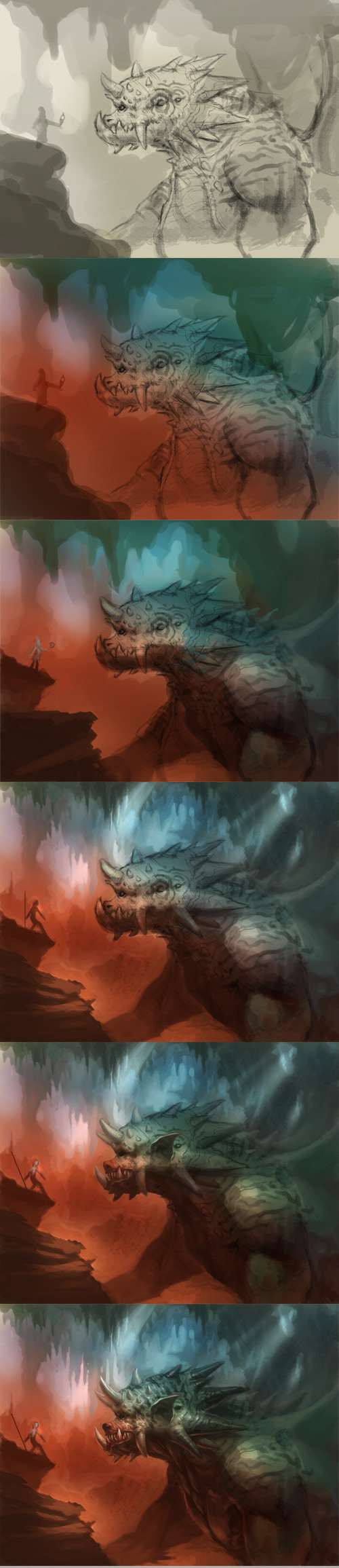 how to, creature concept tutorial, painting