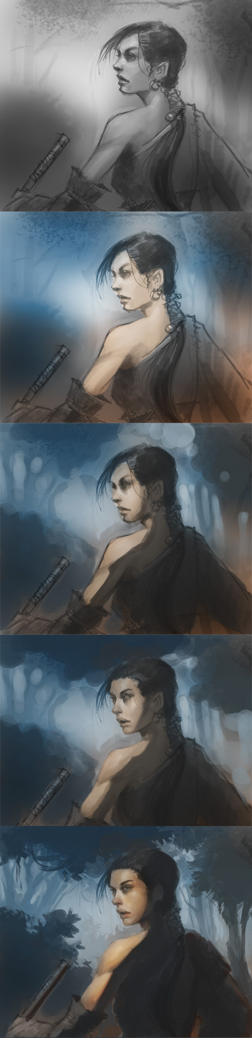 how to paint samurai woman