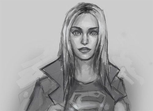 drawing supergirl expression surprise How to draw supergirl