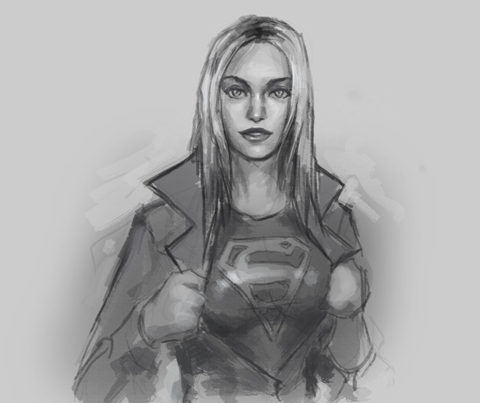 drawing supergirl