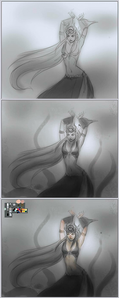 drawing witch step by step How to draw a witch