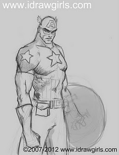 drawing captain america How to draw Captain America