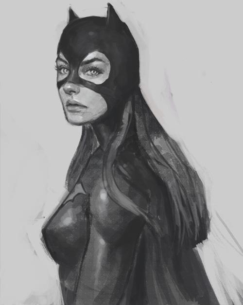 drawing girl batgirl How to draw Batgirl
